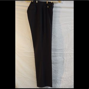 Black work pant/trouser with waist detail